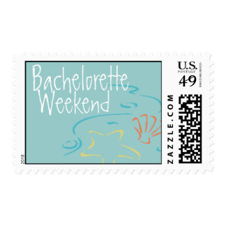Bachelorette Party Beach Wedding Postage