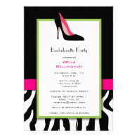 Bachelorette Party Black Heels Invitation