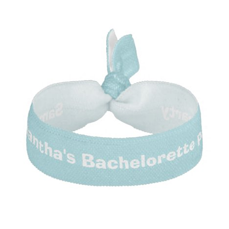 Bachelorette party blue personalized elastic hair tie