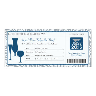 Bachelorette Party Boarding Pass Card