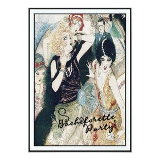 Bachelorette Party Bridal Mayhem Vintage Art Deco 5x7 Paper Invitation Card