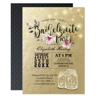 Bachelorette Party Bridal Shower Mason Jar Lights Card