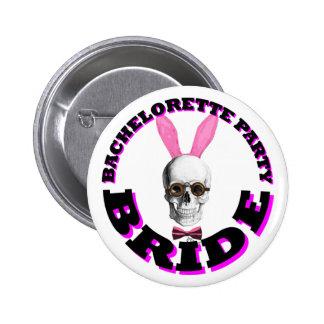 Bachelorette party bride pinback buttons