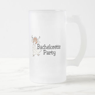 Bachelorette Party Bride Frosted Glass Beer Mug