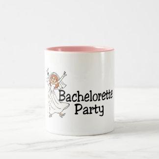 Bachelorette Party Bride Two-Tone Coffee Mug