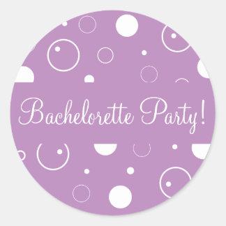 Bachelorette Party Bubbles Envelope Sticker Seal