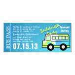 Bachelorette Party Bus Pass Personalized Announcements