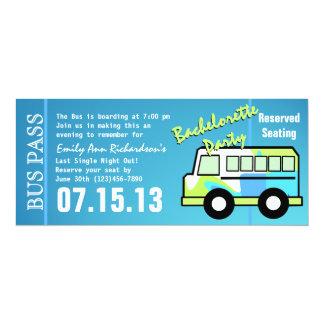 Bachelorette Party Bus Pass Personalized Announcements