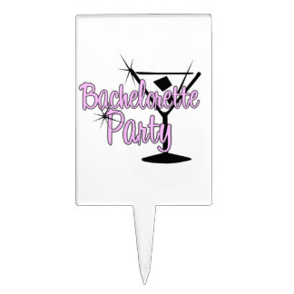 Bachelorette Party Cake Toppers