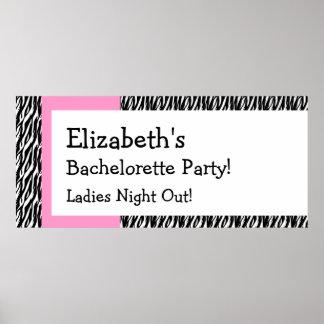 Bachelorette Party Celebration Banner V01 Poster