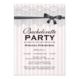 Bachelorette Party Chic Lace Garter Invitation