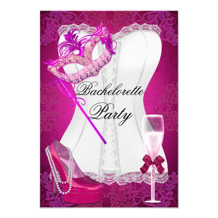 Cards, Bachelorette Party RSVP Invitations, Response Card Templates