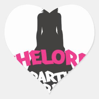 bachelorette party crew heart sticker