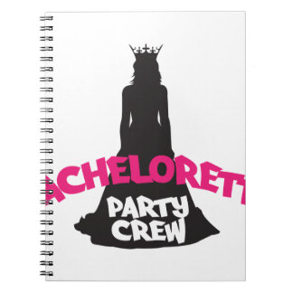 bachelorette party crew notebook