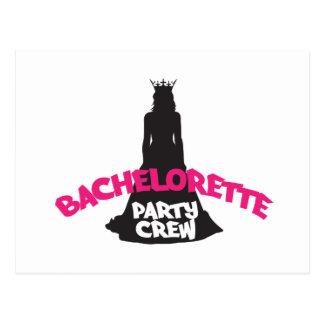 bachelorette party crew postcard