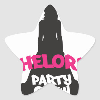 bachelorette party crew star sticker