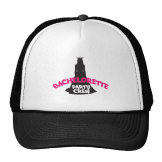 bachelorette party crew trucker hat