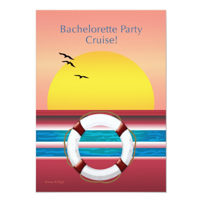 Bachelorette Party Cruise Invite - Sunset Design | Zazzle