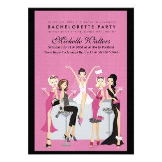 Bachelorette Party Custom Invitations