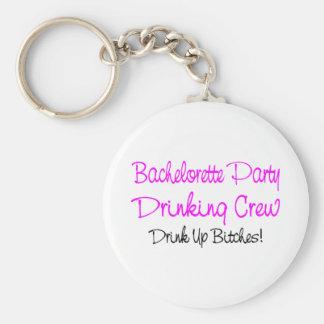 Bachelorette Party Drinking Crew Basic Round Button Keychain