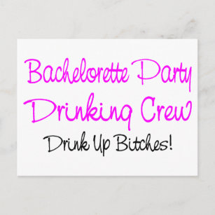 Funny bachelorette sayings gifts on zazzle bachelorette party drinking crew invitation postcard m4hsunfo