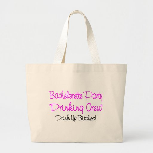 Bachelorette Party Drinking Crew Tote Bag
