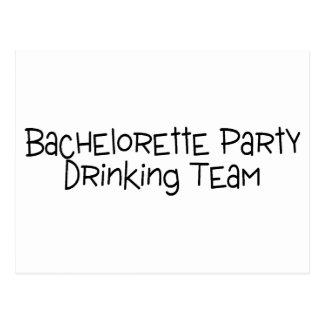 Bachelorette Party Drinking Team Postcard