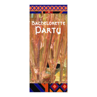 Bachelorette party drinks cocktails invitation 10 cm x 24 cm invitation card