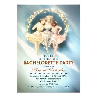 bachelorette party elegant blue stylish invitation