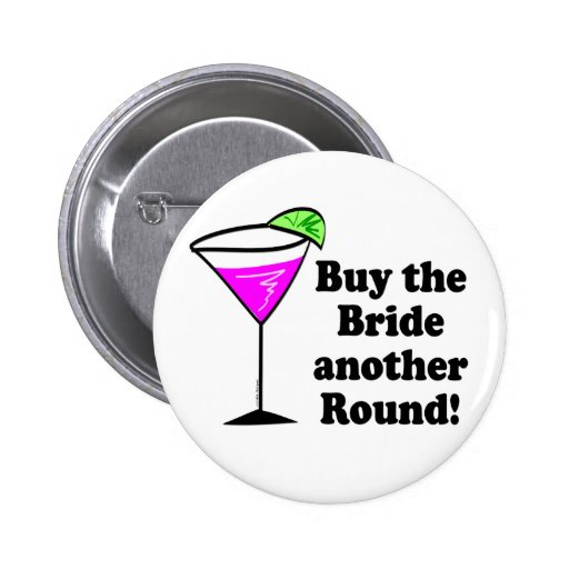Bachelorette Party Favors Pinback Button