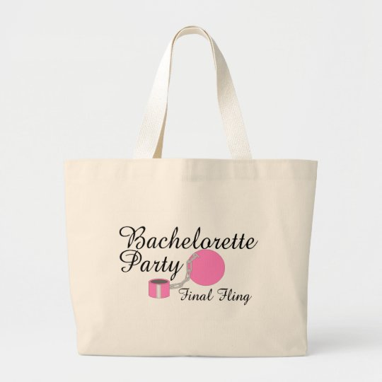 Bachelorette Party Final Fling Large Tote Bag