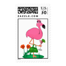 Bachelorette Party Flamingo Postage Stamp