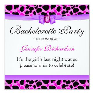 Bachelorette Party Funky Diva Leopard Pink Card