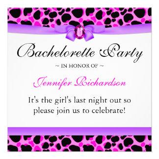 Bachelorette Party Funky Diva Leopard Pink Personalized Invite