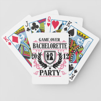 Bachelorette Party Game Over 2012 Bicycle Playing Cards
