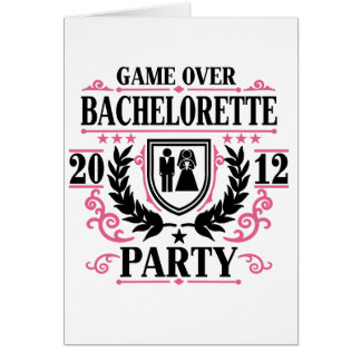 Bachelorette Party Game Over 2012 Card