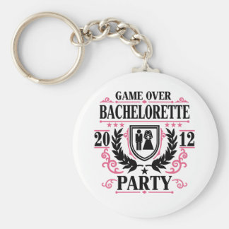 Bachelorette Party Game Over 2012 Keychain