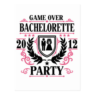 Bachelorette Party Game Over 2012 Postcard