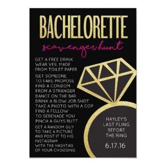 Bachelorette Party Game- Scavenger Hunt Invitation