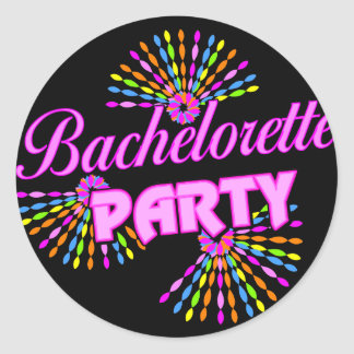 Bachelorette Party Gift Classic Round Sticker
