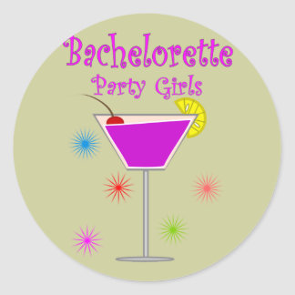 Bachelorette Party Girls T-Shirts Gifts Round Stickers