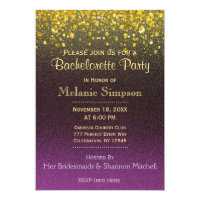 Bachelorette Party | Gold and Purple Card