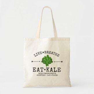Bachelorette Party Healthy Kale Vegetarian Custom Tote Bag