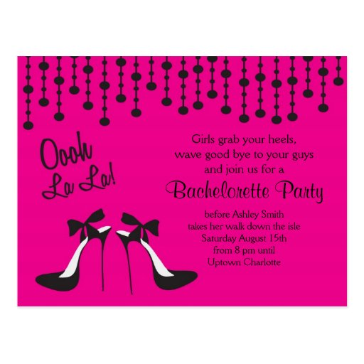 bachelorette party ideas Party / Girls Night Out/ Postcard