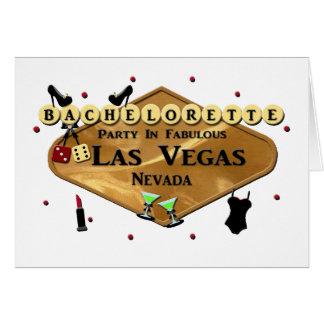 BACHELORETTE PARTY IN FABULOUS LAS VEGAS CARD