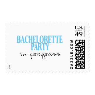 Bachelorette Party In Progress (Blu) Postage Stamp