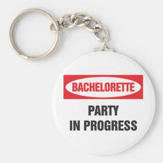 Bachelorette party in progress basic round button keychain