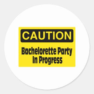 Bachelorette Party In Progress Stickers