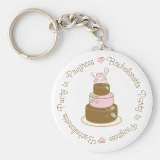 Bachelorette Party in Progress Wedding Tee Gifts Basic Round Button Keychain