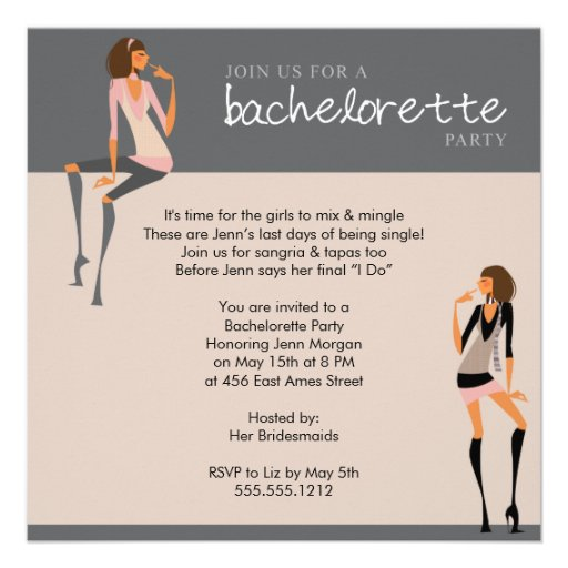 Fun Bachelorette Invitations Wording Ideas. Bachelorette In ...